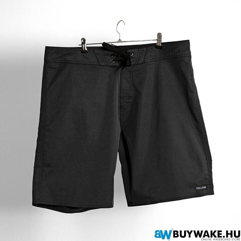Follow SIMPLE Boardie - Black Boardshort Férfi